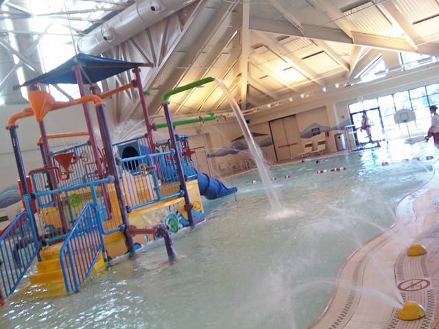 Indoor pool and hot tub with a slide  Silliman Aquatics Center - Indoor Slides, Pools, Giant Hot Tub ...