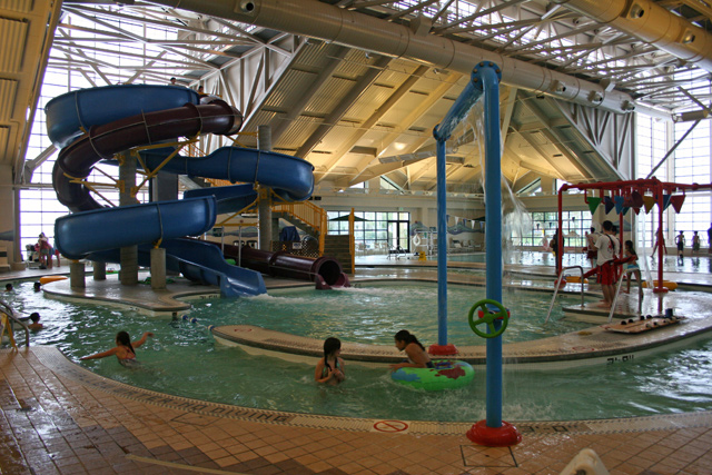 Silliman Aquatics Center Indoor Slides Pools Giant Hot Tub Spray Bars Lazy River