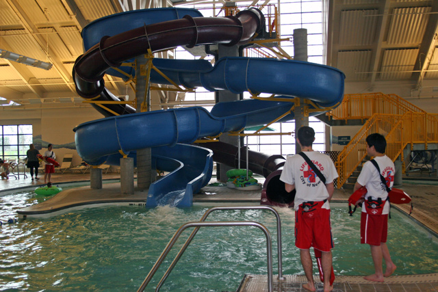 Indoor Swimming Pool With Slides silliman aquatics center - indoor slides, pools, giant hot tub